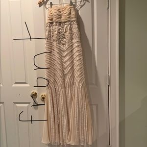 Cream prom dress worn once and in great condition!